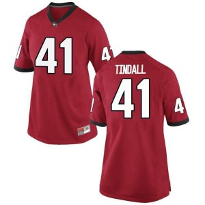 Women Georgia Bulldogs #41 Channing Tindall Red Game College Football Jersey 731213-301