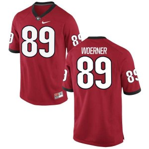 Women Georgia Bulldogs #89 Charlie Woerner Red Limited College Football Jersey 940434-131
