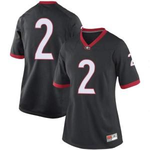 Women Georgia Bulldogs #2 D'Wan Mathis Black Game College Football Jersey 818860-939
