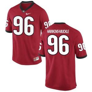 Women Georgia Bulldogs #96 DaQuan Hawkins-Muckle Red Limited College Football Jersey 203345-363