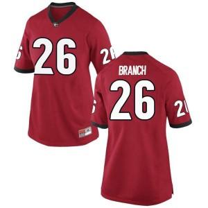 Women Georgia Bulldogs #26 Daran Branch Red Game College Football Jersey 129352-157