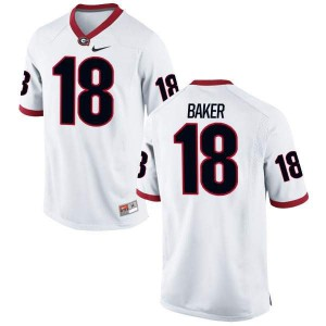 Women Georgia Bulldogs #18 Deandre Baker White Authentic College Football Jersey 155320-940