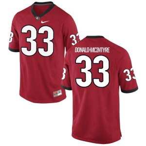 Women Georgia Bulldogs #33 Ian Donald-McIntyre Red Authentic College Football Jersey 351608-542