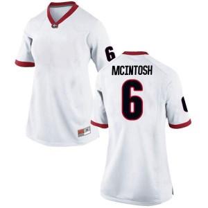 Women Georgia Bulldogs #6 Kenny McIntosh White Replica College Football Jersey 360131-734