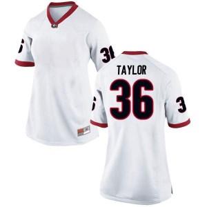 Women Georgia Bulldogs #36 Latavious Brini White Game College Football Jersey 617302-559