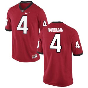 Women Georgia Bulldogs #4 Mecole Hardman Red Authentic College Football Jersey 798847-280