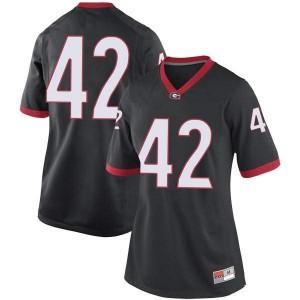 Women Georgia Bulldogs #42 Mitchell Werntz Black Replica College Football Jersey 320252-202
