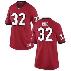Women Georgia Bulldogs #32 Monty Rice Red Game College Football Jersey 182847-204