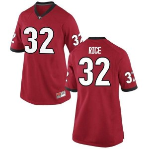 Women Georgia Bulldogs #32 Monty Rice Red Replica College Football Jersey 534764-827