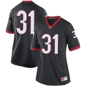 Women Georgia Bulldogs #31 Reid Tulowitzky Black Replica College Football Jersey 904313-467