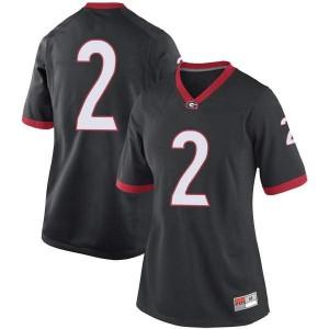 Women Georgia Bulldogs #2 Richard LeCounte Black Game College Football Jersey 553000-281