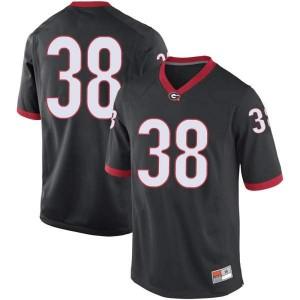 Youth Georgia Bulldogs #38 Aaron Olalude Black Replica College Football Jersey 822801-780