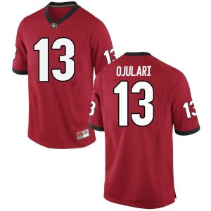 Youth Georgia Bulldogs #13 Azeez Ojulari Red Replica College Football Jersey 768784-722