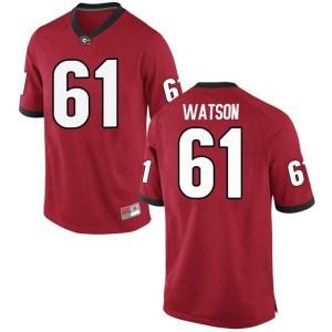 Youth Georgia Bulldogs #61 Blake Watson Red Game College Football Jersey 702435-331