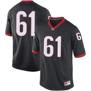 Youth Georgia Bulldogs #61 Blake Watson Black Replica College Football Jersey 138178-651
