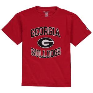 Youth Georgia Bulldogs Red Champion Circling Team College Football T-Shirt 392776-149