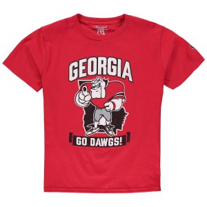 Youth Georgia Bulldogs Red Champion Strong Mascot College Football T-Shirt 335054-783