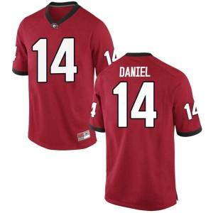 Youth Georgia Bulldogs #14 DJ Daniel Red Game College Football Jersey 760142-566