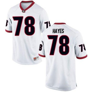 Youth Georgia Bulldogs #78 D'Marcus Hayes White Game College Football Jersey 812795-898