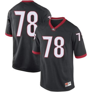Youth Georgia Bulldogs #78 D'Marcus Hayes Black Replica College Football Jersey 619447-354
