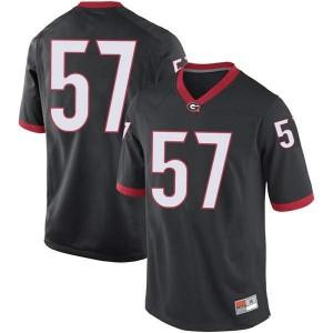 Youth Georgia Bulldogs #57 Daniel Gothard Black Replica College Football Jersey 254044-669