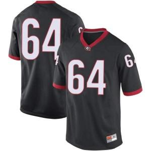 Youth Georgia Bulldogs #64 David Vann Black Game College Football Jersey 486091-898