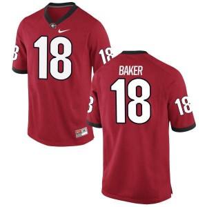Youth Georgia Bulldogs #18 Deandre Baker Red Replica College Football Jersey 704917-350