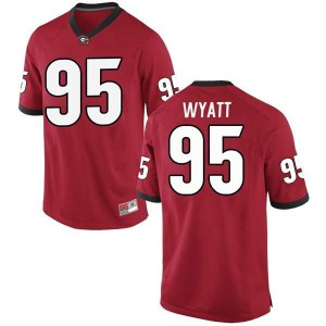 Youth Georgia Bulldogs #95 Devonte Wyatt Red Replica College Football Jersey 563777-761