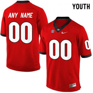Youth Georgia Bulldogs #00 Customized Elite Red College Football Jersey 918728-674