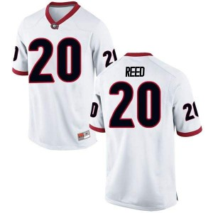 Youth Georgia Bulldogs #20 J.R. Reed White Replica College Football Jersey 343913-632