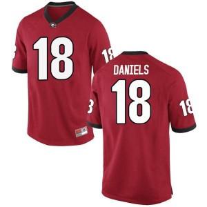Youth Georgia Bulldogs #18 JT Daniels Red Replica College Football Jersey 861770-571