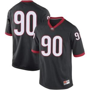 Youth Georgia Bulldogs #90 Jake Camarda Black Replica College Football Jersey 317844-402