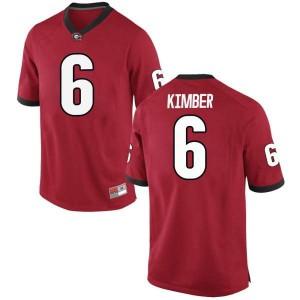 Youth Georgia Bulldogs #6 Jalen Kimber Red Replica College Football Jersey 135197-948