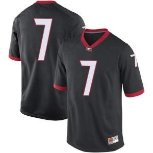 Youth Georgia Bulldogs #7 Jermaine Burton Black Game College Football Jersey 907694-402