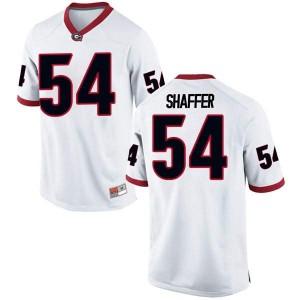 Youth Georgia Bulldogs #54 Justin Shaffer White Replica College Football Jersey 412770-455