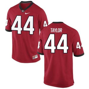 Youth Georgia Bulldogs #44 Juwan Taylor Red Authentic College Football Jersey 698956-618