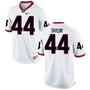 Youth Georgia Bulldogs #44 Juwan Taylor White Authentic College Football Jersey 411501-562