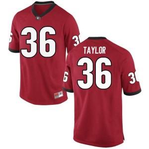 Youth Georgia Bulldogs #36 Latavious Brini Red Replica College Football Jersey 648017-125