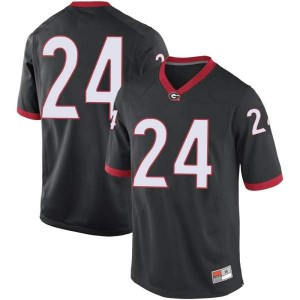 Youth Georgia Bulldogs #24 Nathan Priestley Black Game College Football Jersey 947450-941