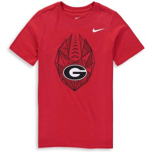 Youth Georgia Bulldogs Team Red Icon College Football T-Shirt 698402-218