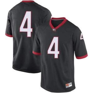 Youth Georgia Bulldogs #4 Nolan Smith Black Replica College Football Jersey 538025-355