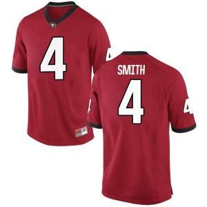 Youth Georgia Bulldogs #4 Nolan Smith Red Replica College Football Jersey 363815-907