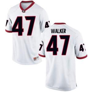 Youth Georgia Bulldogs #47 Payne Walker White Game College Football Jersey 249524-600