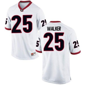 Youth Georgia Bulldogs #25 Quay Walker White Game College Football Jersey 554375-405