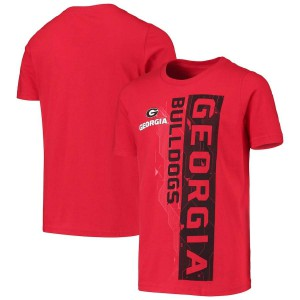 Youth Georgia Bulldogs Sidebar Red College Football T-Shirt 450199-130