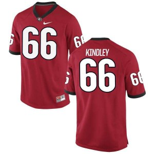 Youth Georgia Bulldogs #66 Solomon Kindley Red Authentic College Football Jersey 850433-595