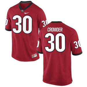 Youth Georgia Bulldogs #30 Tae Crowder Red Authentic College Football Jersey 777697-324