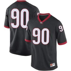 Youth Georgia Bulldogs #90 Tramel Walthour Black Game College Football Jersey 423277-172