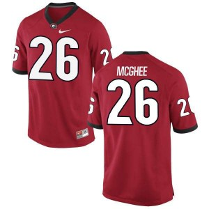 Youth Georgia Bulldogs #26 Tyrique McGhee Red Game College Football Jersey 229524-387