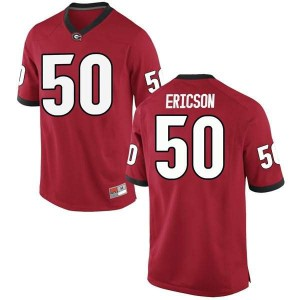 Youth Georgia Bulldogs #50 Warren Ericson Red Game College Football Jersey 602840-477